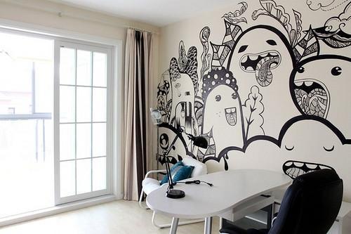 手绘墙有什么好处?