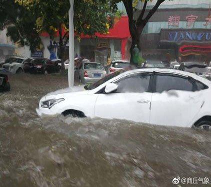 最新消息!暴雨中心盘踞商丘 豫东地区出现严重内涝