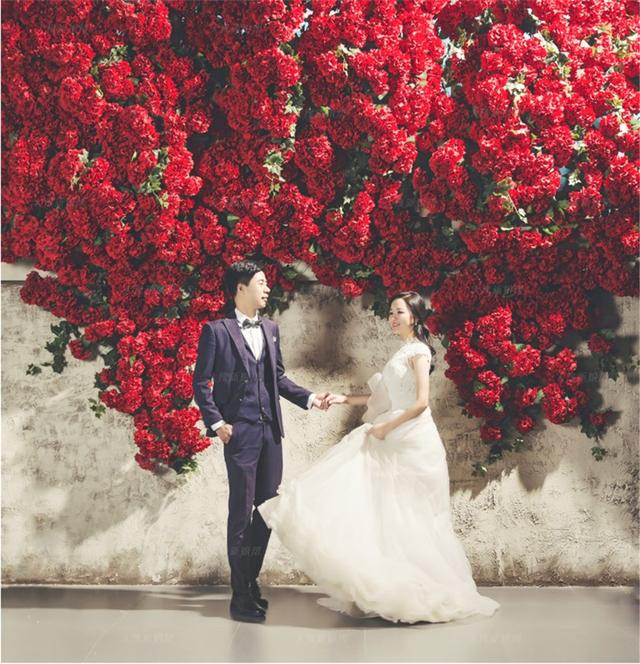 韩风袭来 姑娘韩式婚纱照简单唯美惹人爱
