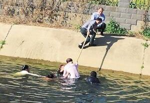 沈丘小伙医院门前意外落水 幸遇几名热心医生搭救