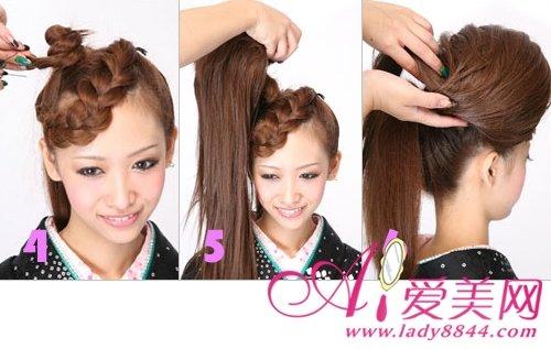日系发型如何扎 复杂的发型简单学图片