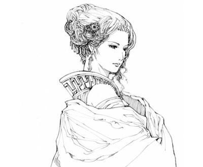 绘画分享 古风人物手绘铅笔画 妖孽  手绘铅笔画卡通动漫美女高清图片
