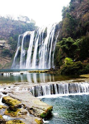 贵州黄果树瀑布 清凉一夏 中国六大避暑瀑布 高清图片