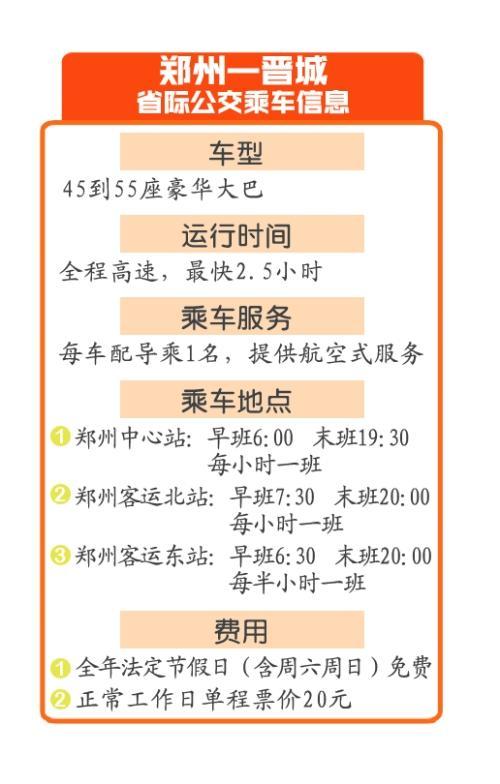 郑州开通全国首条跨省公交 法定节假日和周末免费坐