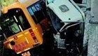 幼儿园校车与大货车惨烈相撞