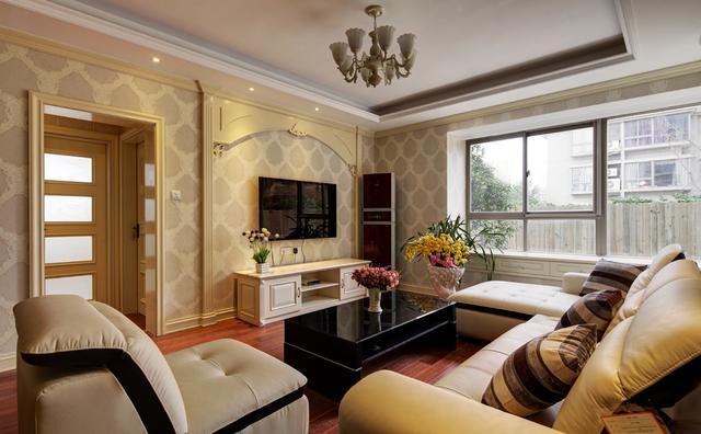 纯欧式客厅电视背景墙装修效果图