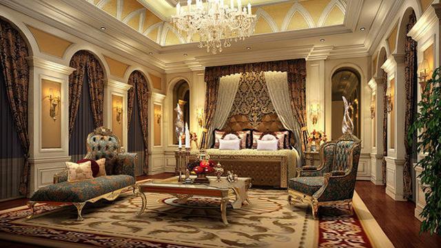 风格特点:欧式习惯于用家具和软装来营造出整体效果