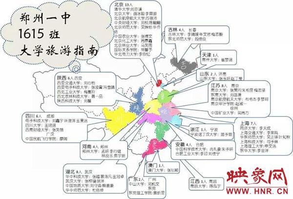 郑州一中1615班制作的大学旅游指南
