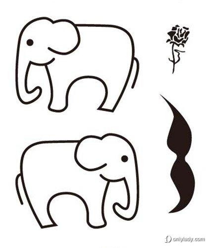 初次尝试纹身,建议不要选择太花哨复杂的图案,而从简单的图形着手.