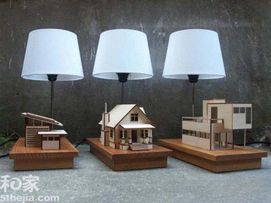 房子灯 1 废物再利用 家居环保灯自己diy