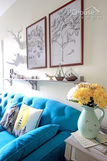 沙发背景墙大热!4种用装饰画饰家妙法