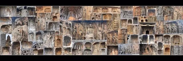 绝美古风 龙门石窟精美的服饰艺术