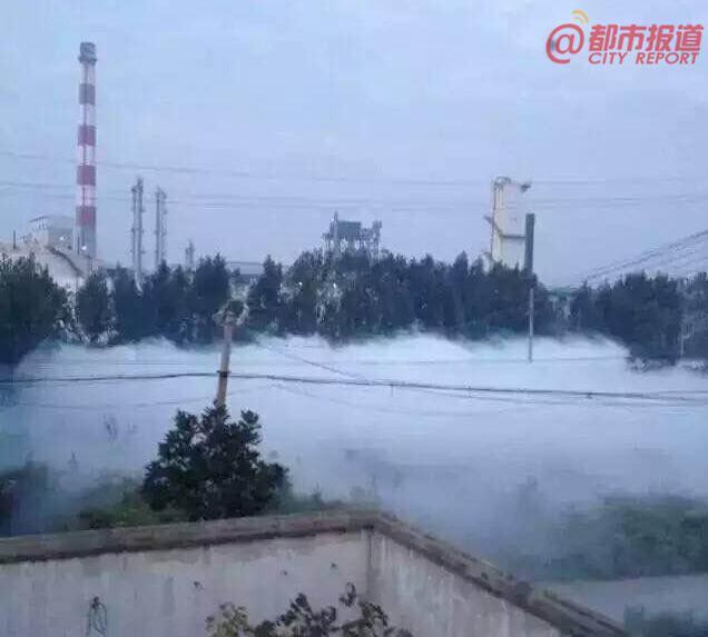 平顶山一焦化厂爆炸20人中毒 村庄被白雾笼罩
