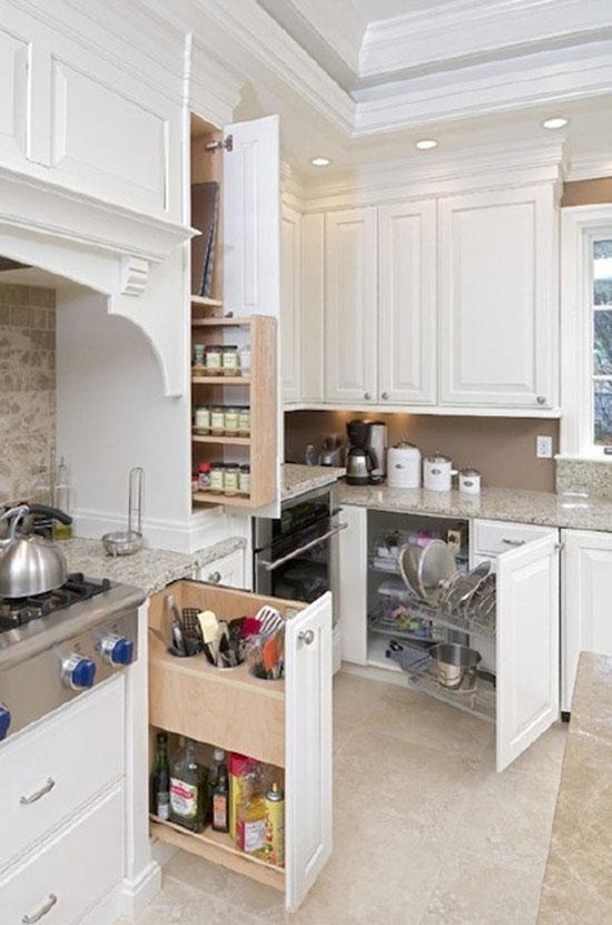 case 3:橱柜内部划清格局   实用橱柜收纳法 三招理清厨房秩序图片