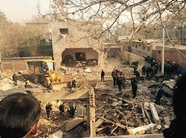 安阳一鞭炮作坊今早产生爆炸 至少6人被埋(图)