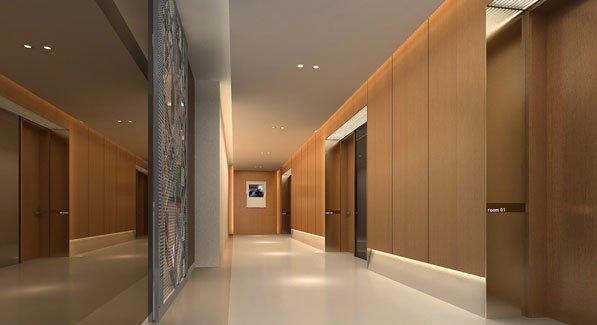 二层走廊透视图