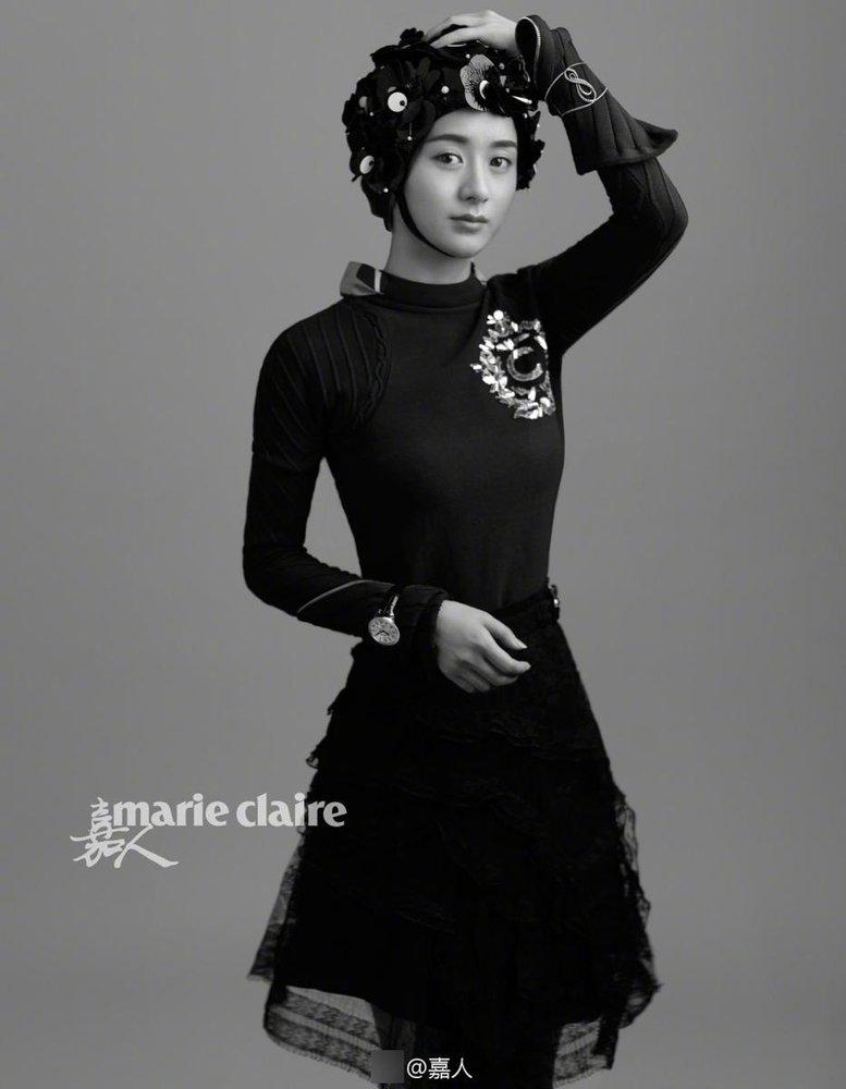 高清:赵丽颖登杂志封面 这风格有点特别图片
