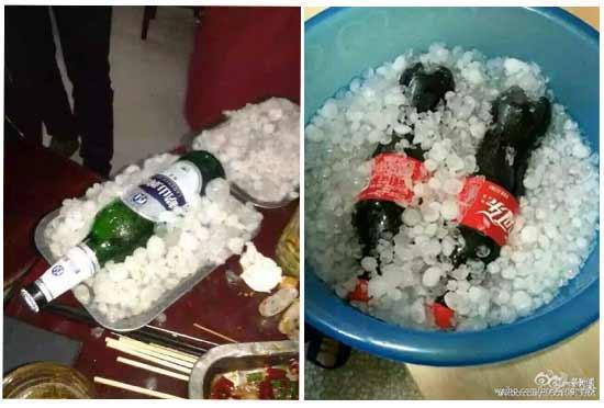 """冰雹成了""""老冰棍儿"""",还能用来""""冰镇啤酒"""