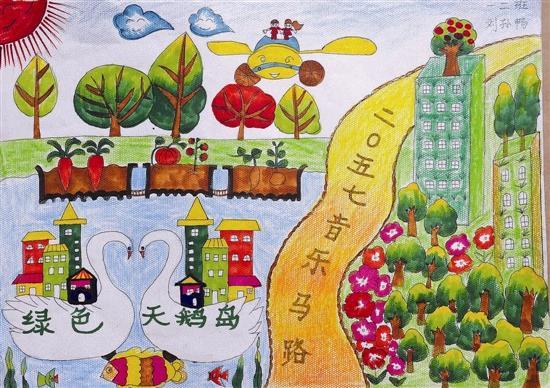 三门峡城市画大奖百年荣获学生不凡愿景画工后小学门泗塘图片