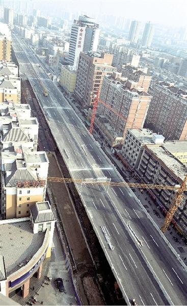 郑州陇海高架大学路以东26日通车 开通26条匝道