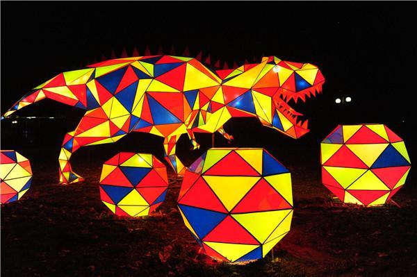 今年春节到绿博园赏灯会