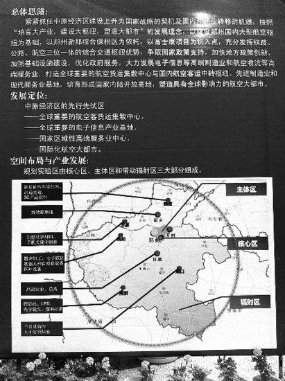 """郑州航空经济综合实验区 初步规划露""""芳容"""""""