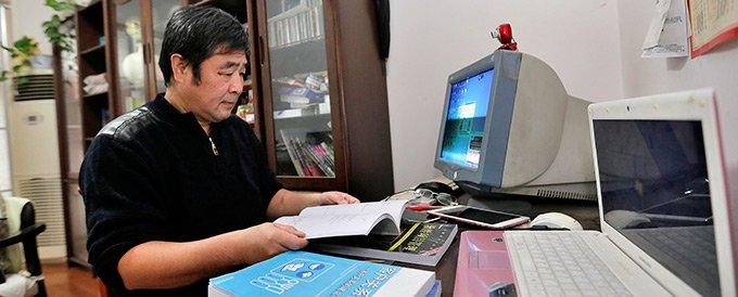豫森正努力读书,自学课程备考博士,盼能从商人变成一位老师。