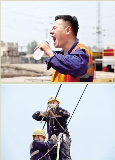 """郑州空中""""养路人""""迎""""烤""""验 烈日下持续工作"""