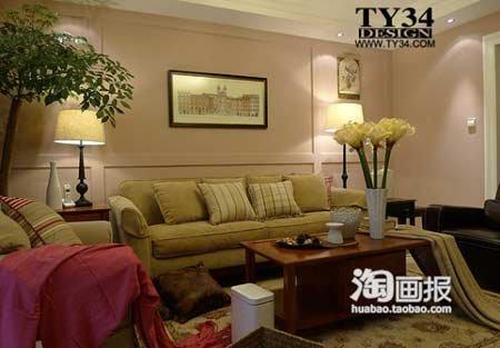 两室两厅一卫装修图:地毯也是网购 喜欢的波斯图案 虽然款高清图片