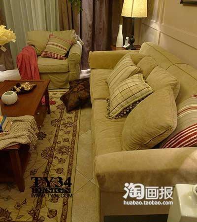 两室两厅一卫装修图:另外一个角度高清图片