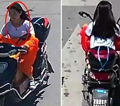 郑州发生一起事故 现场一摊血