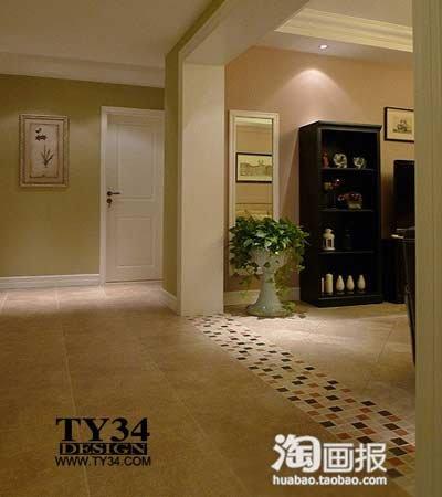 两室两厅一卫装修图 深受年轻人热衷的美式风格 高清图片
