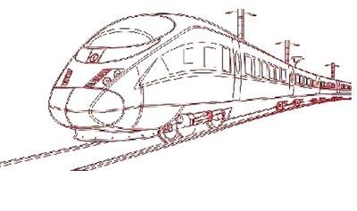 手绘火车节图片