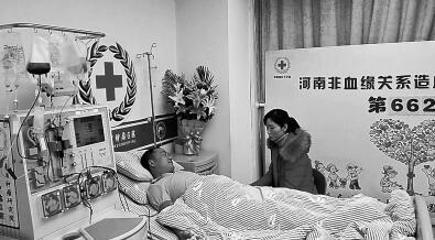 驻马店男子推迟蜜月 为救8龄童捐造血干细胞