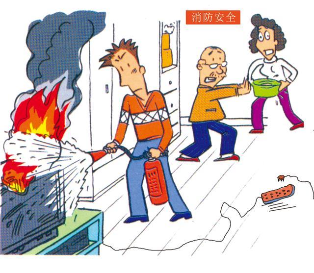 家用电器,先切断电源,再灭火图片