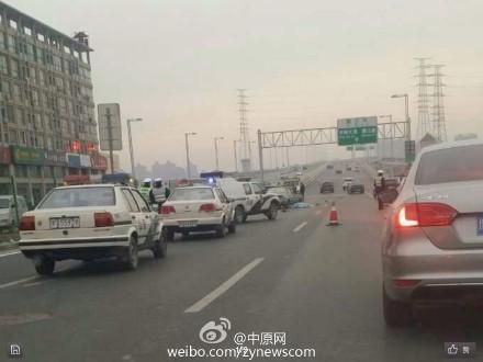 郑州:女子横穿马路被撞倒又遭出租车碾轧亡