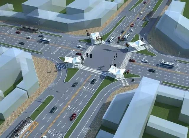 据相关负责人介绍,道路渠化是通过导流岛与路面标线相结合的方式,以