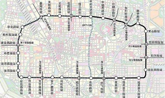 郑州地铁五号线线路图图片