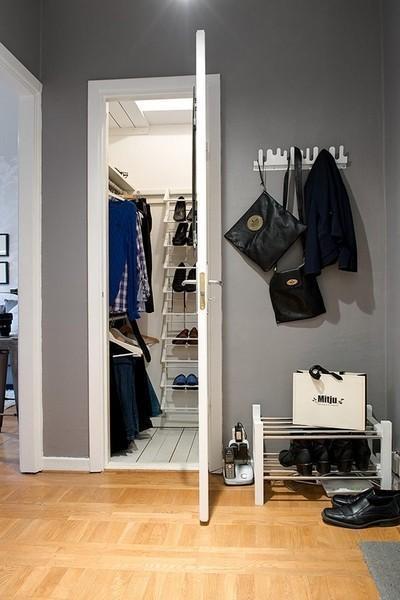 卧室,厨房,餐厅,卫生间,衣帽间这些功能区全部挤进38平的小户型,还不图片