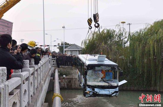 苏州公交坠河 河南小伙连救6人后悄然离去