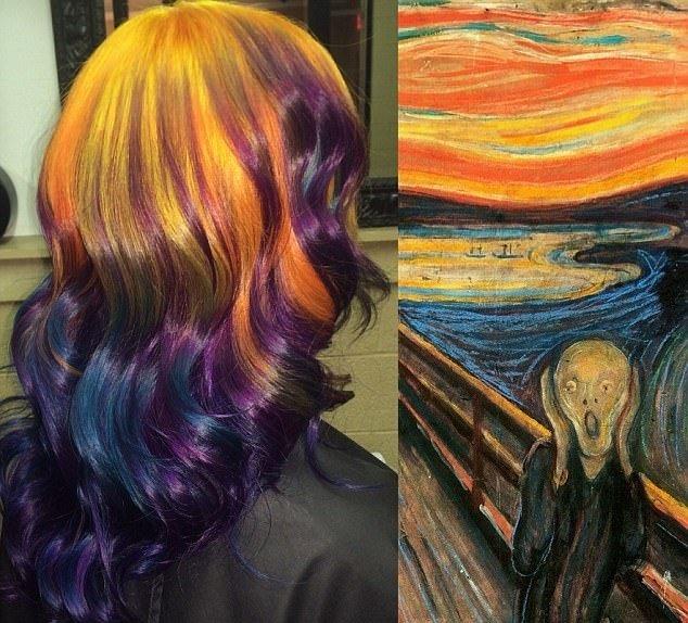 拥有近10万名instagram粉丝,其创作的发型艺术令人大开眼界.图片