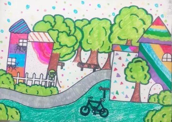 """寻找少年毕加索少儿创意绘画大赛""""我心中的森林城市""""图片"""