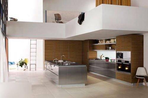 【组图】小高层也有大厨房 整体橱柜设计图图片