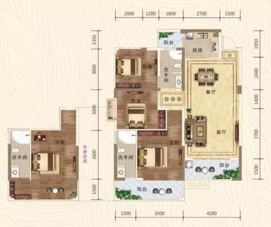 【精品样板间】100多平创新2+1,2房变3房紧凑型美宅!