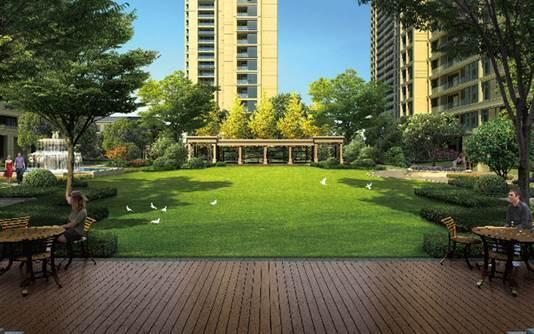 欧式古典园林,4000平米的中央法式景观大草坪,与小区毗邻的金霞山公园