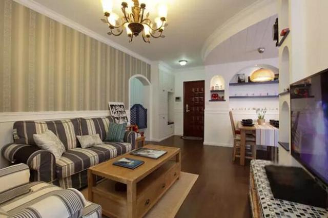 长沙72㎡婚房 地中海美式混搭很是惬意