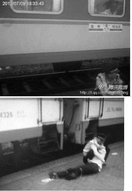 90后实习乘警为救卧轨者双腿被火车轧断(图)