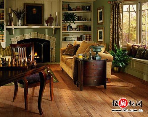 风格的地板,设计复古,颜色比较厚重