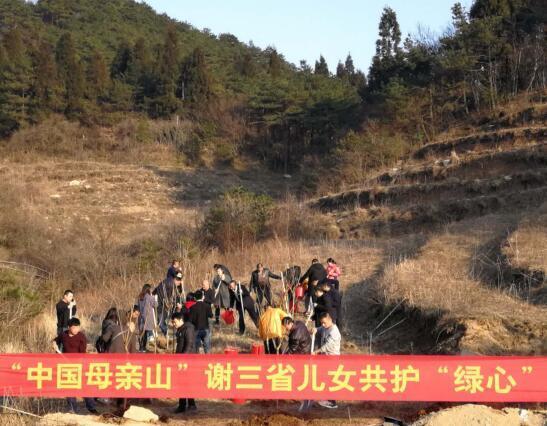 """3月12日天岳幕阜山三省儿女植树""""中国母亲山"""""""