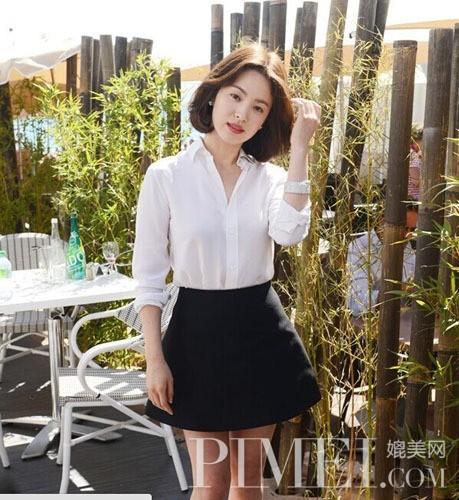 白衬衫 韩式美女的手锏